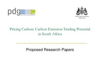 Pricing Carbon: Carbon Emission Trading Potential in South Africa