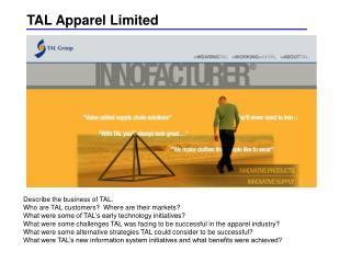 TAL Apparel Limited