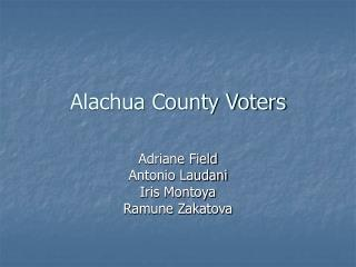 Alachua County Voters