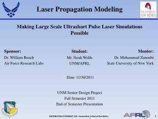 Laser Propagation Modeling