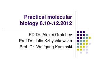 Practical molecular biology 8.10-.12.2012