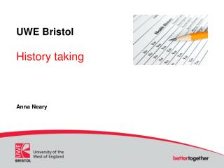 UWE Bristol History taking