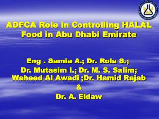 ADFCA Role in Controlling HALAL Food in Abu Dhabi Emirate