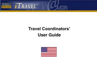 Travel Coordinators' User Guide