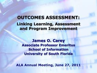 OUTCOMES ASSESSMENT: Linking Learning, Assessment and Program Improvement