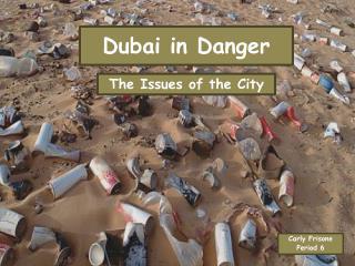 Dubai in Danger