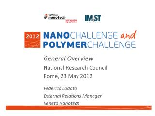 General  Overview National  Research Council Rome, 23  May  2012 Federica Lodato