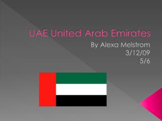 UAE United Arab Emirates