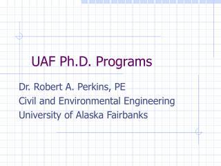 UAF Ph.D. Programs