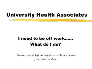 University Health Associates