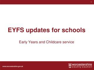 EYFS updates for schools