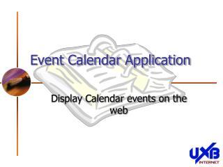 Event Calendar Application