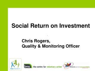 Social Return on Investment