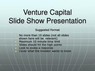 Venture Capital Slide Show Presentation