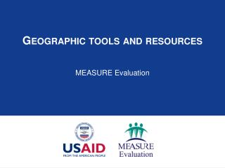 Geographic tools and resources