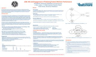 JCM, VIE and Engagement in Predicting Federal Workers' Performance