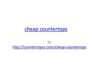 cheap countertops