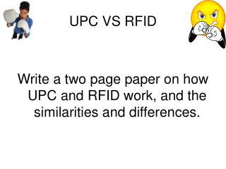UPC VS RFID