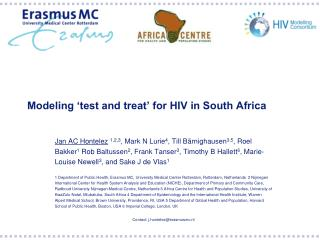 Modeling 'test and treat' for HIV in South Africa