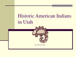 Historic American Indians in Utah