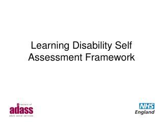 Learning Disability Self Assessment Framework