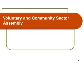 Voluntary and Community Sector  Assembly