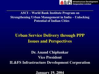 ASCI – World Bank Institute Program on