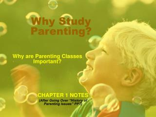 Why Study Parenting?