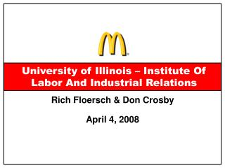University of Illinois – Institute Of Labor And Industrial Relations