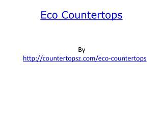 eco countertops