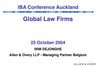 IBA Conference Auckland
