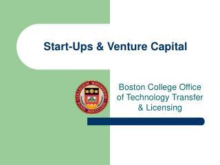 Start-Ups & Venture Capital
