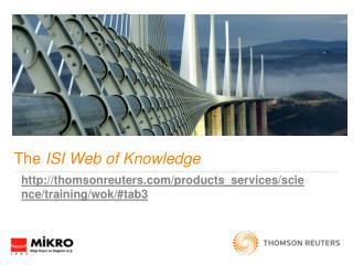 The  ISI Web of Knowledge
