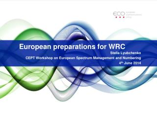 European  preparations  for WRC