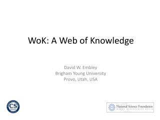 WoK: A Web of Knowledge