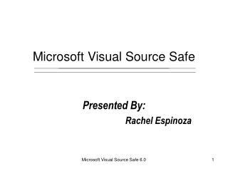 Microsoft Visual Source Safe