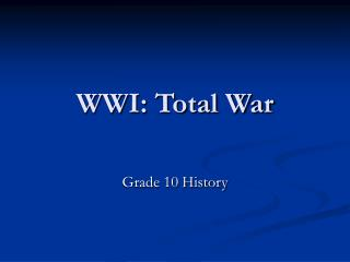 WWI: Total War
