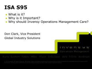 Don Clark, Vice President Global Industry Solutions