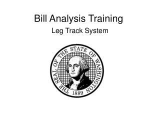 Bill Analysis Training