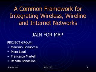 PROJECT GROUP: Maurizio Bonuccelli Piero Lauri Francesca Martelli Renata Bandelloni