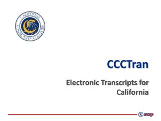CCCTran Electronic Transcripts for  California
