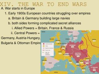 XIV. THE WAR TO END WARS