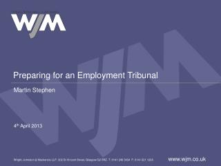 Preparing for an Employment Tribunal