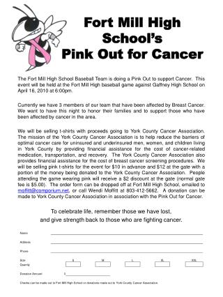 Fort Mill High School's Pink Out for Cancer