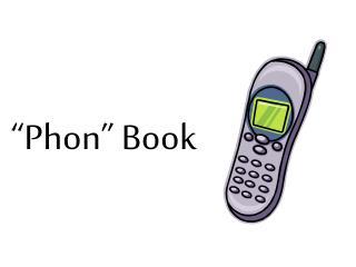 """""""Phon"""" Book"""