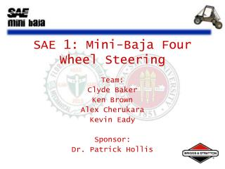 SAE 1: Mini-Baja Four Wheel Steering