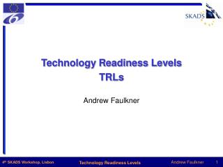 Technology Readiness Levels TRLs