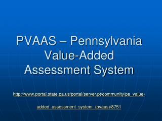 The TWO PVAAS Methodologies