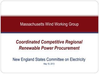 Massachusetts Wind Working Group
