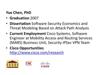 Yue Chen, PhD Graduation  2007